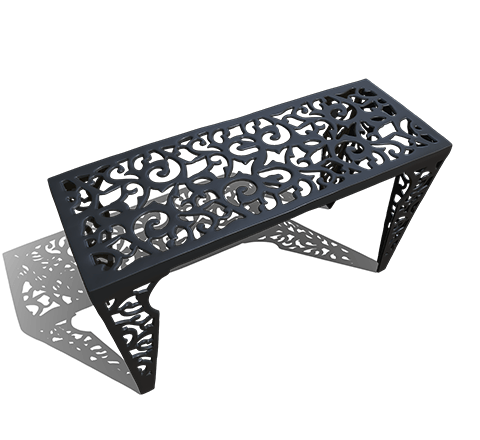 Metal table HD 3D模型