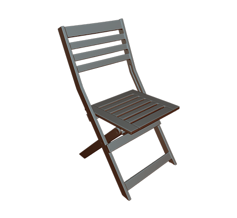 Wooden chair HD 3D模型